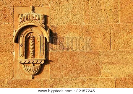 Detail of a haveli in Jaisalmer, Rajasthan, India