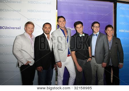 PASADENA - APR 18: Emile Welman and band Overtone at the NBCUniversal summer press day held at The Langham Huntington Hotel and Spa on April 18, 2012 in Pasadena, California