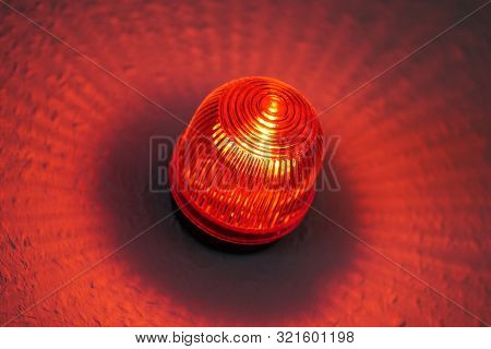 Red Light Warning Lamp Known As Wigwag Wig-wag Or Red-eye