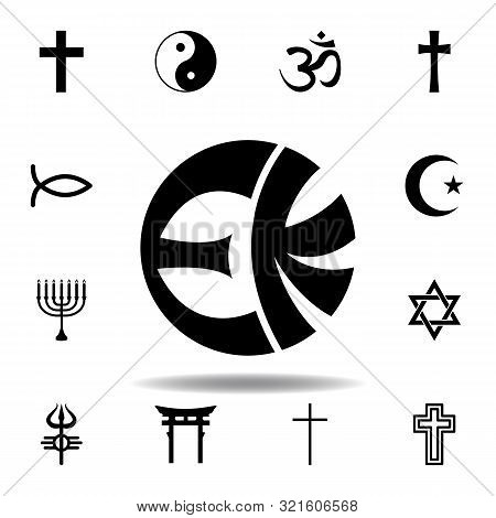 religion symbol, eckankar icon. Element of religion symbol illustration. Signs and symbols icon can be used for web, logo, mobile app, UI, UX poster