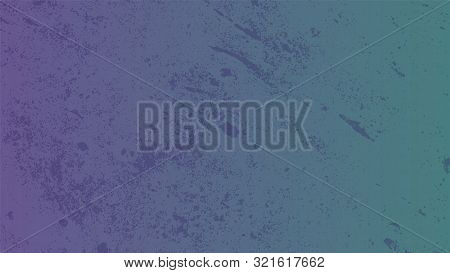 Abstract Blue-purple Background With Light Spontaneous Paint Splashes. Spots In A Chaotic Order On A