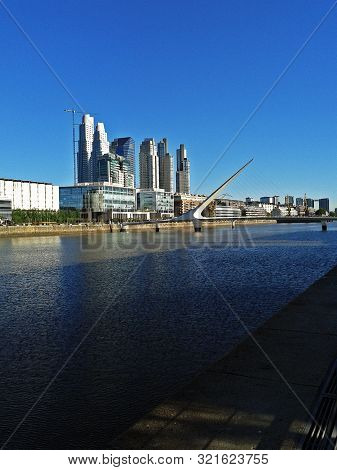 Wharf Of Puerto Madero In The City Of Buenos Aires, Capital Of Argentina