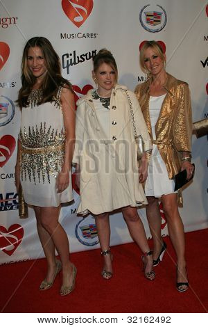 LOS ANGELES, CA - FEB 9: Emily Robison, Natalie Maines, Martie Maguire of the Dixie Chicks at the 2007 MusiCares Person Of The Year at the LA Convention Center on February 9, 2007 in Los Angeles, CA