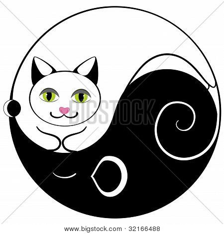 Mouse And Cat Ying Yang