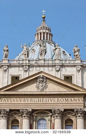 St. Peter's Basilica at the Vatican City.