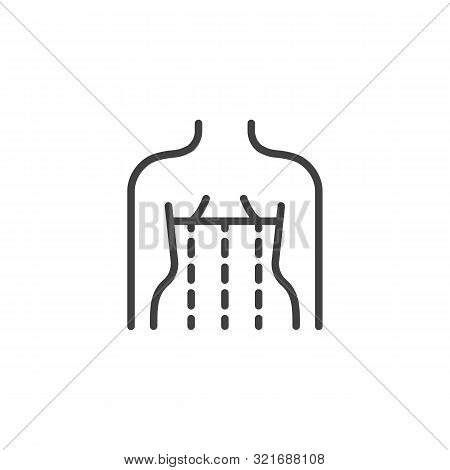 Orthopedic Corset On The Human Body Line Icon. Linear Style Sign For Mobile Concept And Web Design.