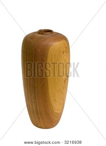 Wood Vase with clipping path
