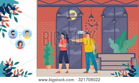 Family Relations Problems, Marriage Crisis, Divorce Reasons, Pair In Quarrel Trendy Flat Vector Conc