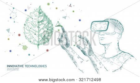 Dna Evolution Modern Engineering Technology. Augmented Reality Helmet Vr Glasses. Ecology Nature Gen