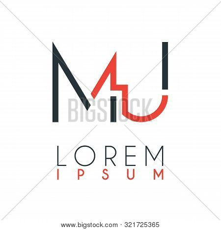 The Logo Between The Letter M And Letter U Or Mu With A Certain Distance And Connected By Orange And