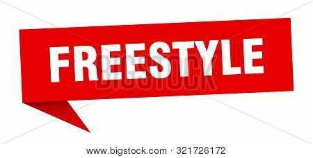 Freestyle Speech Bubble. Freestyle Sign. Freestyle Banner
