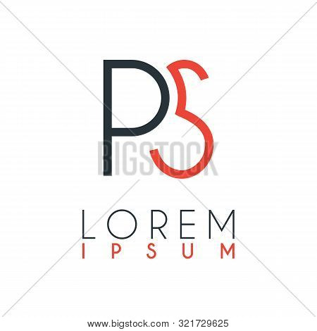 The Logo Between The Letter P And Letter S Or Ps With A Certain Distance And Connected By Orange And
