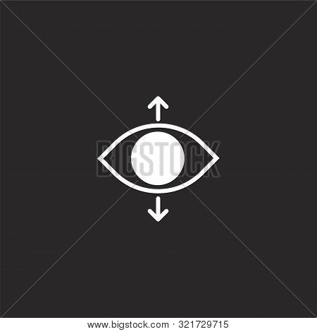 Perspective Icon. Perspective Icon Vector Flat Illustration For Graphic And Web Design Isolated On B
