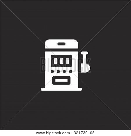 Slot Machine Icon. Slot Machine Icon Vector Flat Illustration For Graphic And Web Design Isolated On
