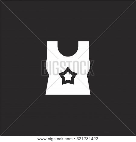 Tank Top Icon. Tank Top Icon Vector Flat Illustration For Graphic And Web Design Isolated On Black B