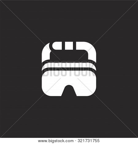 Safety Goggles Icon. Safety Goggles Icon Vector Flat Illustration For Graphic And Web Design Isolate