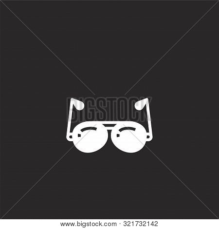 Sunglasses Icon. Sunglasses Icon Vector Flat Illustration For Graphic And Web Design Isolated On Bla