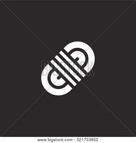 Rope Icon. Rope Icon Vector Flat Illustration For Graphic And Web Design Isolated On Black Backgroun