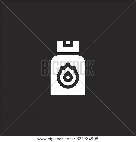 Gel Icon. Gel Icon Vector Flat Illustration For Graphic And Web Design Isolated On Black Background