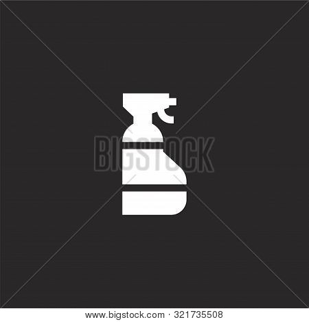 Window Cleaner Icon. Window Cleaner Icon Vector Flat Illustration For Graphic And Web Design Isolate
