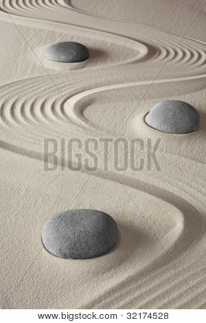 spa treatment concept japanese zen garden tao buddhism conceptual for balance harmony relaxation and meditation wellness background poster