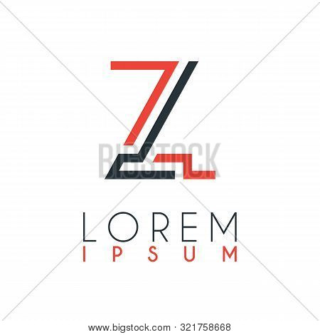 The Logo Between The Letter Z And Letter L Or Zl With A Certain Distance And Connected By Orange And