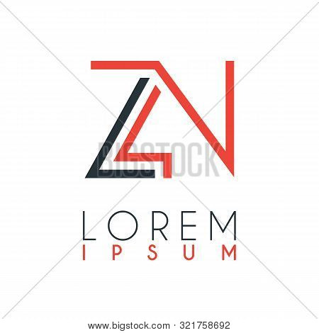 The Logo Between The Letter Z And Letter N Or Zn With A Certain Distance And Connected By Orange And
