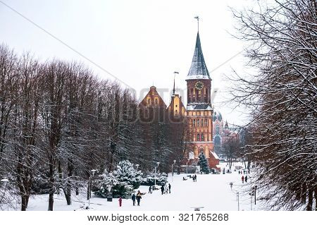 Cathedral In Kaliningrad, Winter Cathedral Of Our Lady And St. Adalbert, Brick Gothic, Grave Of Imma
