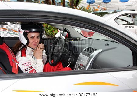 LOS ANGELES - APR 13:  Kate del Castillo at the Toyota Pro/Celeb Race Qualifying Day at Grand Prix Race Track on April 13, 2012 in Long Beach, CA