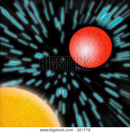 Sun Mars Planets Blue Zoom Stars