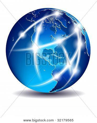 Communication World, Global Commerce - America - Eps 10