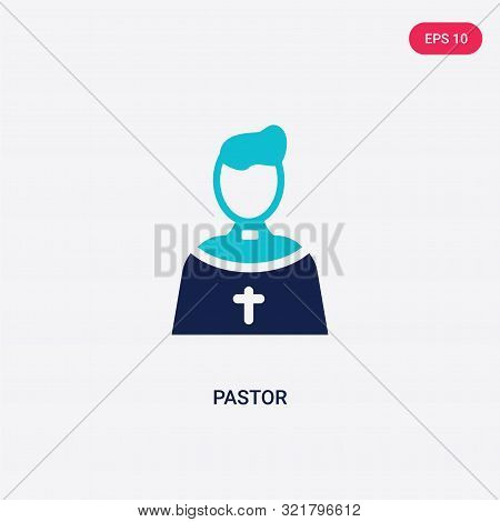 two colored pastor vector icon from birthday party and wedding.