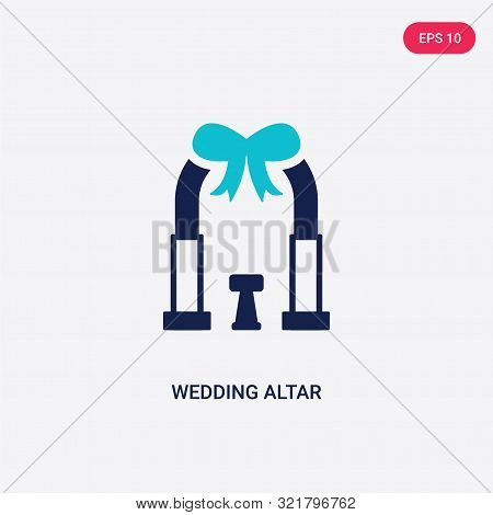 two colored wedding altar vector icon from birthday party and wedding.