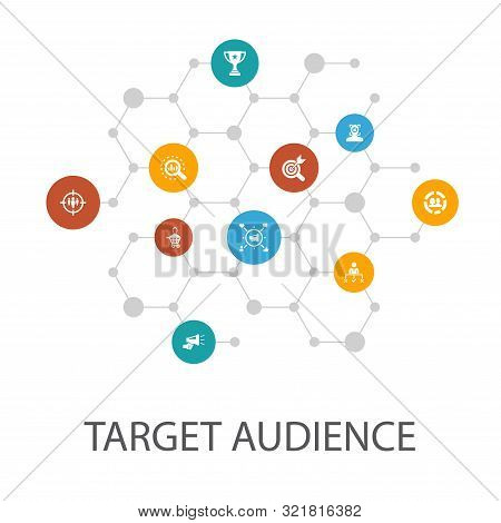 Target Audience Presentation Template, Cover Layout And Infographics Consumer, Demographics, Niche,