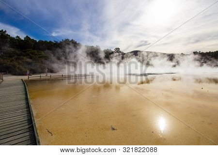 Champagne Pool In Wai-o-tapu An Active Geothermal Area, New Zealand