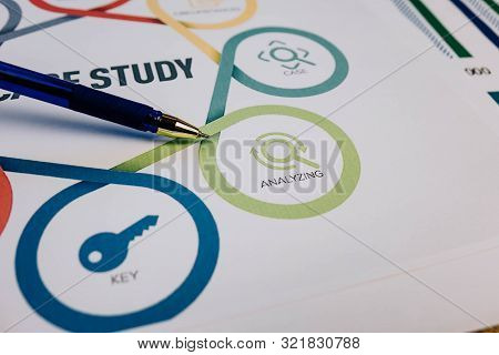 The Ballpoint Pen Points To The Analyzing Section In Case Study