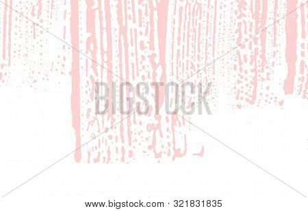 Grunge texture. Distress pink rough trace. Fetching background. Noise dirty grunge texture. Lively artistic surface. Vector illustration. poster
