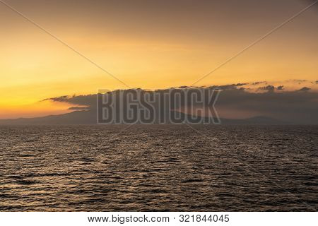 Bataan Province, Philippines - March 5, 2019: Shot 1/6 From Manila Bay On Mount Mariveles, Dormant V