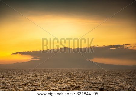 Bataan Province, Philippines - March 5, 2019: Shot 4/6 From Manila Bay On Mount Mariveles, Dormant V