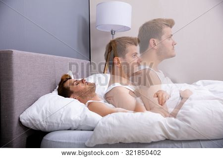 Soul Leaves Young Man Body While Sleeping In Bed