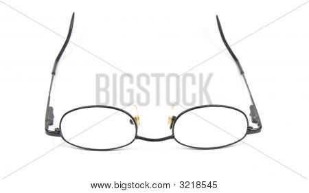 Man Woman Spectacles Isolated On White