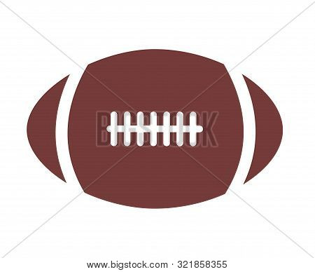 American Football Icon On White Background. Flat Style. American Football Icon For Your Web Site Des
