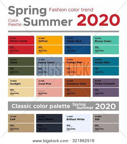 Color Trends 2020 Fashion.Fashion Color Trends Vector Photo Free Trial Bigstock