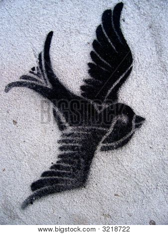 Dove Bird Grafitti Stencil