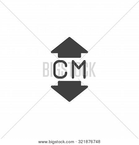 Thickness Arrows Vector Icon. Filled Flat Sign For Mobile Concept And Web Design. Thickness Glyph Ic