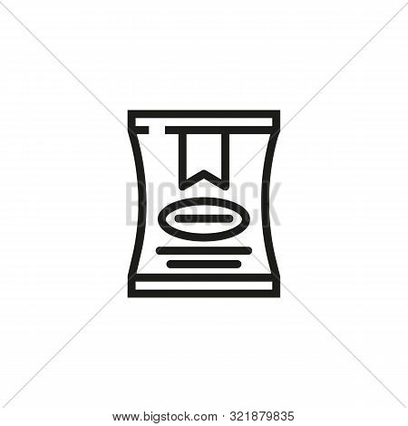 Crisps Line Icon. Package, Snack, Potato. Smack Products Concept. Vector Illustration Can Be Used Fo