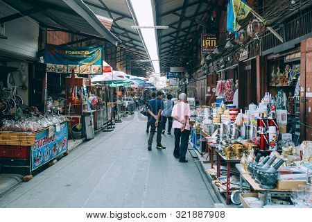 Sam Chuk Market Old 100 Years Traditional Market Looking Way Of Life Of Thai People In The Past That