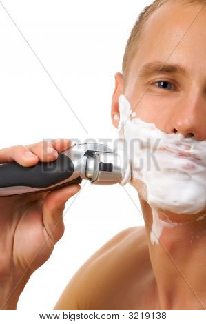 Shaving With Foam