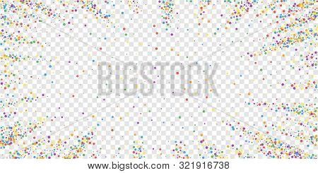 Festive Confetti. Celebration Stars. Joyous Confetti On Transparent Background. Ecstatic Festive Ove