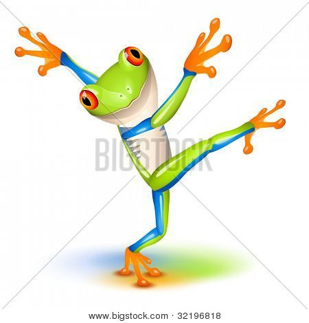 Dancing Tree Frog in equilibrium